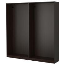 2 каркаса гардеробов ПАКС черно-коричневый артикуль № 598.953.04 в наличии. Интернет каталог IKEA Минск. Недорогая доставка и соборка.