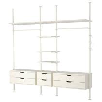 3 секции СТОЛЬМЕН белый артикуль № 799.270.97 в наличии. Online сайт IKEA Минск. Недорогая доставка и соборка.