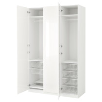 Гардероб ПАКС белый артикуль № 691.273.51 в наличии. Онлайн каталог IKEA Минск. Быстрая доставка и монтаж.