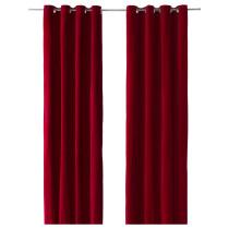Гардины, 1 пара САНЕЛА красный артикуль № 202.301.99 в наличии. Интернет каталог IKEA РБ. Недорогая доставка и установка.
