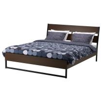 Каркас кровати ТРИСИЛ темно-коричневый артикуль № 390.200.02 в наличии. Интернет сайт IKEA РБ. Быстрая доставка и монтаж.