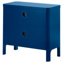 Комод с 2 ящиками БУСУНГЕ классический синий артикуль № 602.290.14 в наличии. Интернет магазин IKEA Беларусь. Быстрая доставка и соборка.