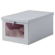 Коробка с крышкой ХИФС серый артикуль № 002.845.41 в наличии. Интернет сайт IKEA Беларусь. Быстрая доставка и соборка.