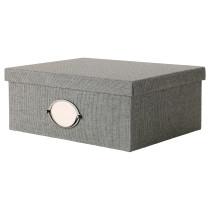 Коробка с крышкой КВАРНВИК серый артикуль № 902.566.71 в наличии. Онлайн сайт IKEA Беларусь. Недорогая доставка и соборка.