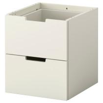 Модульный комод с 2 ящиками НОРДЛИ белый артикуль № 102.727.07 в наличии. Онлайн каталог IKEA РБ. Быстрая доставка и соборка.