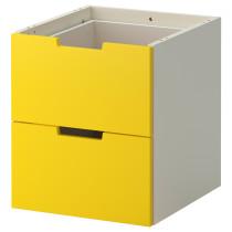 Модульный комод с 2 ящиками НОРДЛИ желтый артикуль № 702.886.87 в наличии. Интернет каталог IKEA Беларусь. Недорогая доставка и монтаж.