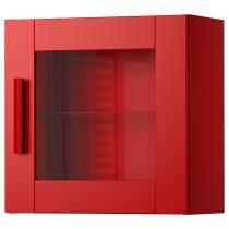 Навесной шкаф со стеклянной дверью БРИМНЭС красный артикуль № 103.006.54 в наличии. Онлайн магазин ИКЕА РБ. Быстрая доставка и монтаж.