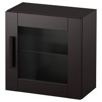 Навесной шкаф со стеклянной дверью БРИМНЭС черный артикуль № 903.006.50 в наличии. Интернет каталог IKEA РБ. Быстрая доставка и установка.
