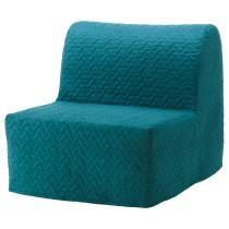 Кресло-кровать ЛИКСЕЛЕ ХОВЕТ бирюзовый артикуль № 191.341.46 в наличии. Интернет магазин ИКЕА РБ. Недорогая доставка и установка.