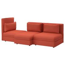 3-местный диван ВАЛЛЕНТУНА оранжевый артикуль № 291.621.67 в наличии. Онлайн магазин ИКЕА Беларусь. Недорогая доставка и монтаж.