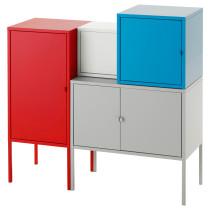 Комбинация для хранения ЛИКСГУЛЬТ серый/белый артикуль № 291.616.29 в наличии. Online магазин IKEA РБ. Недорогая доставка и установка.