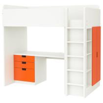 Кровать-чердак, 3 ящика, 2 дверцы СТУВА оранжевый артикуль № 391.795.77 в наличии. Интернет сайт IKEA Беларусь. Недорогая доставка и соборка.