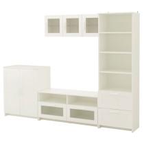 Шкаф для ТВ, комбинация БРИМНЭС белый артикуль № 791.843.36 в наличии. Онлайн каталог IKEA Минск. Быстрая доставка и монтаж.