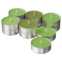 Аромат свеча в металической подставке СИНЛИГ зеленый артикуль № 703.500.85 в наличии. Online магазин IKEA Минск. Быстрая доставка и монтаж.