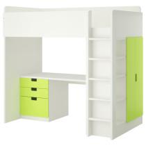 Кровать-чердак, 3 ящика, 2 дверцы СТУВА зеленый артикуль № 292.272.01 в наличии. Онлайн магазин IKEA Беларусь. Недорогая доставка и установка.