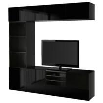 Шкаф для ТВ, комбинированный, стекляные дверцы БЕСТО артикуль № 391.966.90 в наличии. Онлайн сайт IKEA Минск. Быстрая доставка и установка.