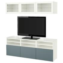 Шкаф для ТВ, комбинированный, стекляные дверцы БЕСТО белый артикуль № 691.965.23 в наличии. Онлайн сайт ИКЕА РБ. Быстрая доставка и соборка.