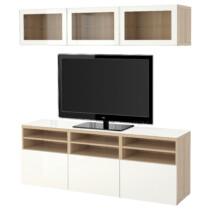 Шкаф для ТВ, комбинированный, стекляные дверцы БЕСТО артикуль № 991.965.26 в наличии. Онлайн сайт IKEA Беларусь. Недорогая доставка и монтаж.