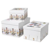 Набор коробок с крышкой, 3 штуки СТУНСИГ артикуль № 703.736.33 в наличии. Интернет магазин IKEA Республика Беларусь. Недорогая доставка и монтаж.