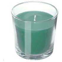 Ароматическая свеча в стакане СИНЛИГ темно-зеленый артикуль № 503.487.72 в наличии. Онлайн сайт IKEA Минск. Недорогая доставка и соборка.