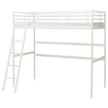 Каркас кровати-чердака СВЭРТА белый артикуль № 003.939.36 в наличии. Онлайн магазин IKEA Минск. Недорогая доставка и монтаж.