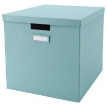 Коробка с крышкой ТЬЕНА голубой артикуль № 303.890.37 в наличии. Интернет каталог IKEA РБ. Недорогая доставка и соборка.