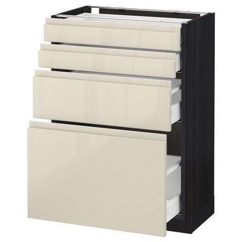 Напольный шкаф 4 фронтальных панели, 4 ящика МЕТОД / МАКСИМЕРА черный артикуль № 392.388.31 в наличии. Онлайн каталог IKEA РБ. Недорогая доставка и соборка.