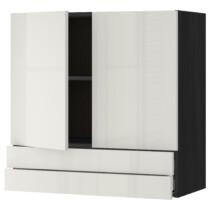 Навесной шкаф, 2 дверцы, 2 ящика МЕТОД / МАКСИМЕРА черный артикуль № 492.353.99 в наличии. Интернет магазин IKEA Беларусь. Быстрая доставка и монтаж.