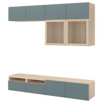 Шкаф для ТВ, комбинированный, стекляные дверцы БЕСТО артикуль № 692.522.22 в наличии. Online сайт IKEA РБ. Недорогая доставка и установка.