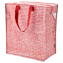 Сумка КНЭЛЛА красный/белый артикуль № 103.791.24 в наличии. Интернет магазин IKEA РБ. Быстрая доставка и установка.