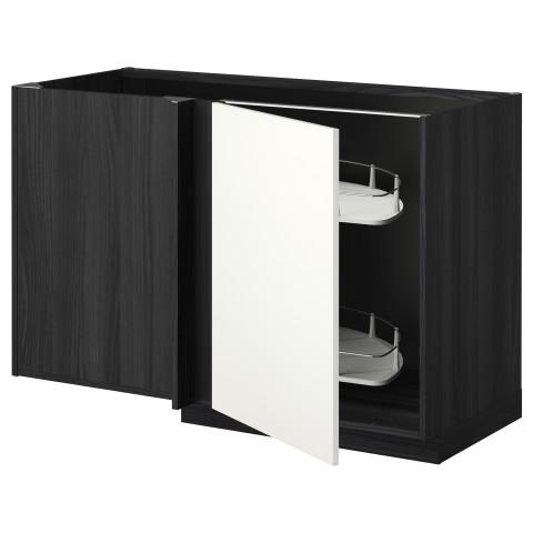Угловой напольный шкаф с выдвижной секцией МЕТОД черный артикуль № 092.262.88 в наличии. Онлайн сайт IKEA РБ. Недорогая доставка и монтаж.