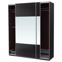 Гардероб ПАКС черно-коричневый артикуль № 792.488.14 в наличии. Онлайн магазин IKEA Минск. Недорогая доставка и установка.