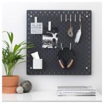 Настенная панель, комбинация СКОДИС черный артикуль № 992.858.72 в наличии. Онлайн сайт IKEA Республика Беларусь. Недорогая доставка и соборка.