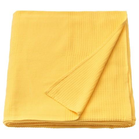 Покрывало ИНДИРА желтый артикуль № 104.294.78 в наличии. Online сайт ИКЕА РБ. Быстрая доставка и монтаж.