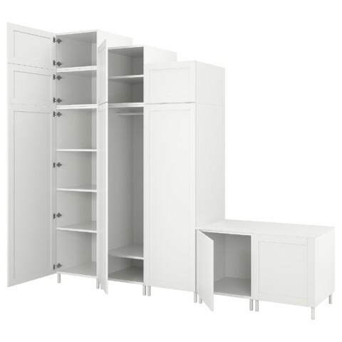 Гардероб с 9 дверями ОПХУС белый артикуль № 193.030.02 в наличии. Онлайн каталог IKEA Республика Беларусь. Быстрая доставка и монтаж.